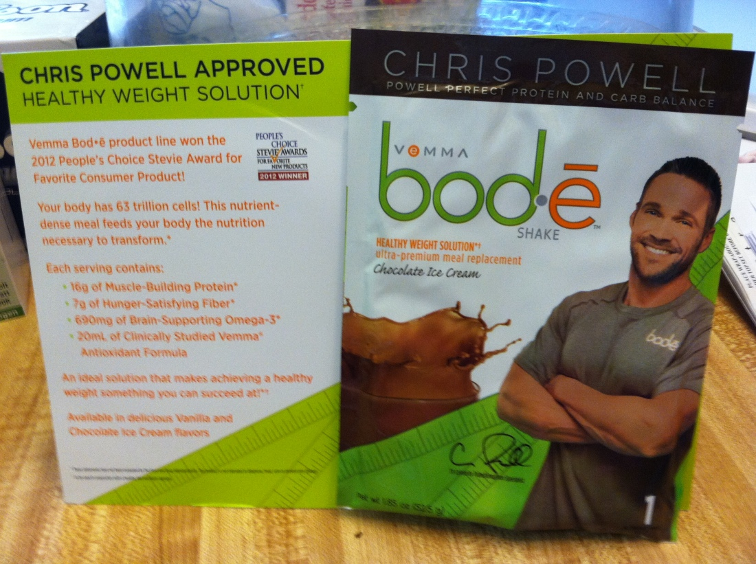 My Free Sample of Bod-e Shake